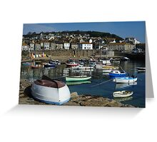 Sunny day at Mousehole Greeting Card