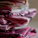 Pink Hankies in a pile by Hege Nolan