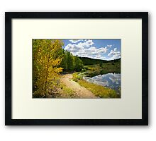 The Golden Way Framed Print