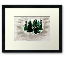 Collection of trees for Christmas, waterclor Framed Print