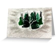 Collection of trees for Christmas, waterclor Greeting Card