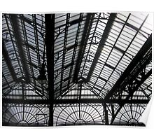 Glasgow Central Train Station - Windows Detail Poster