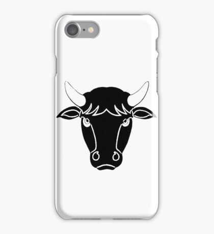Bull Portrait Vector iPhone Case/Skin