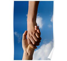 Two children holding hands Poster