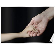 Senior woman holding little girl's hand Poster