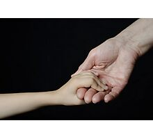 Senior woman holding little girl's hand Photographic Print