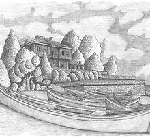 Boats by the sea by Georgi Kartalov