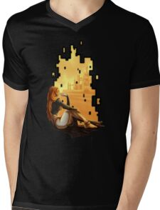 Watching Through a Rift Mens V-Neck T-Shirt
