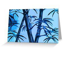 blue geometric bamboo Greeting Card