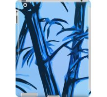 blue geometric bamboo iPad Case/Skin