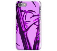pink geometric bamboo iPhone Case/Skin