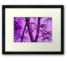 pink geometric bamboo Framed Print
