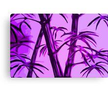 pink geometric bamboo Canvas Print