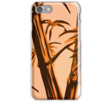 orange geometric bamboo iPhone Case/Skin