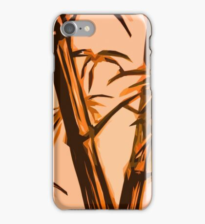 orange geometric bamboo iPhone Case/Skin