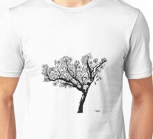 black and white tree Unisex T-Shirt