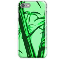 green geometric bamboo iPhone Case/Skin