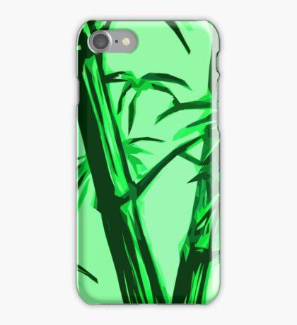 green geometric bamboo iPhone Case/Skin