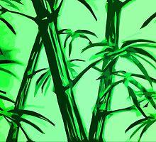 green geometric bamboo by Xander Player