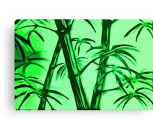 green geometric bamboo Canvas Print
