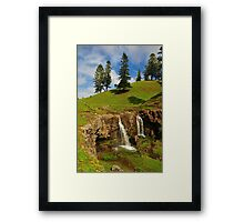 Cockpit Falls - Norfolk Island Framed Print