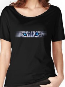 Snow Leopard Eyes Women's Relaxed Fit T-Shirt