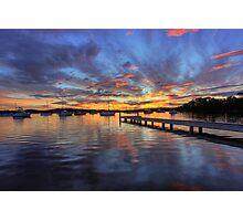 Bolton Point Sunset Photographic Print