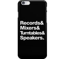 Dr. Dre & Records & Turntables Classic Threads iPhone Case/Skin