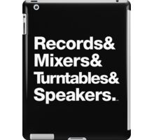 Dr. Dre & Records & Turntables Classic Threads iPad Case/Skin
