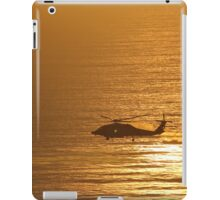 Sunset Helicopter  iPad Case/Skin
