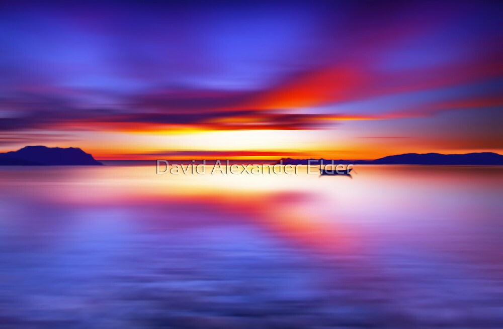 Anchored for the Night by David Alexander Elder