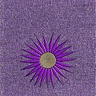 Purple daisy on purple background iphone case by KatDoodling