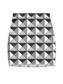 Studded - Black & White Mini Skirt