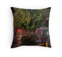 City Drug Fire 10/9/2011 Throw Pillow