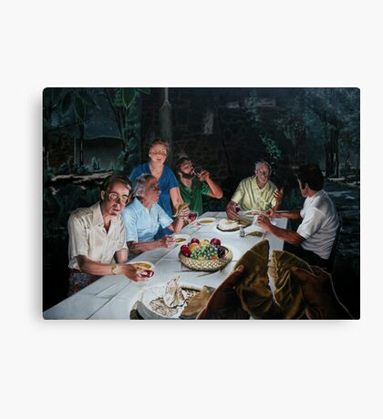 """The Last supper - oil on canvas - 72"""" x 52""""  Canvas Print"""