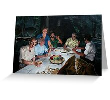 """The Last supper - oil on canvas - 72"""" x 52""""  Greeting Card"""