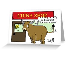 Bull in a China Shop Greeting Card
