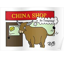 Bull in a China Shop Poster