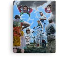 """Surrealism and the Ferris Wheel - oil on canvas - 47"""" x 58"""" Canvas Print"""