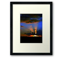 Sunset over Lismore nsw Framed Print