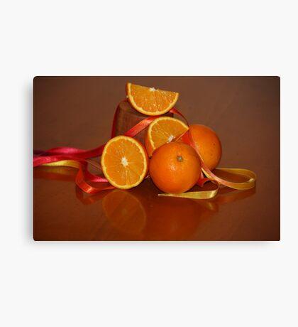 Oranges On Orange Canvas Print