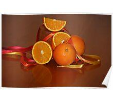 Oranges On Orange Poster