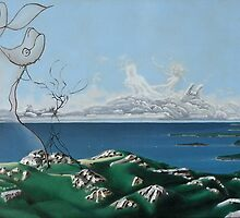 """Surreal Feminine Landscape - oil on canvas - 60"""" x 28"""" by Dave Martsolf"""