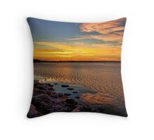 A Winter Night At Lake Eufaula, Oklahoma Throw Pillow