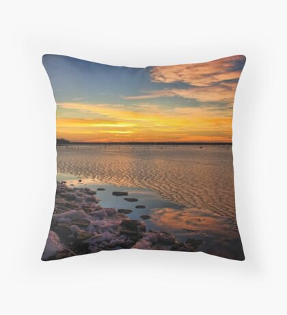 A Winter Night At Lake Eufaula, Oklahoma Throw Pillow