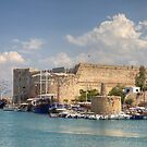 Historic castle and harbour in Cyprus by Debu55y