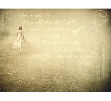 My Abyss-with Victor Hugo Quote Photographic Print