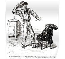 Achille Sirouy Mark Twain Les Aventures de Huck Huckleberry Finn illustration p022 Poster