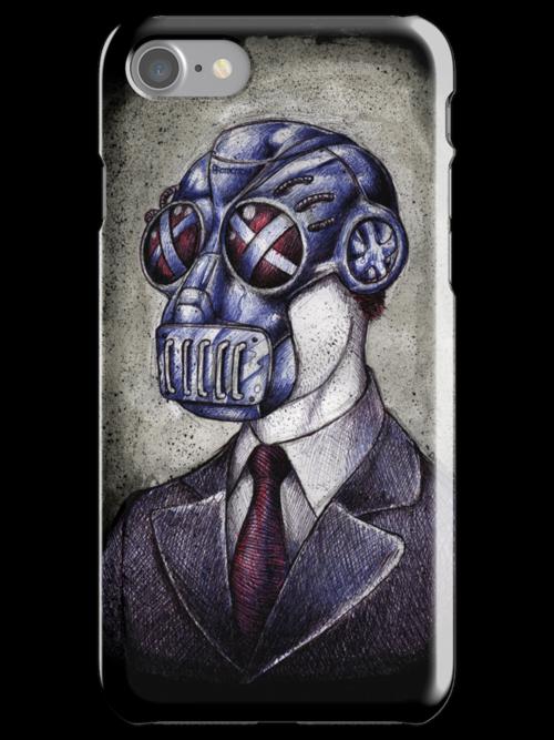 Gas Mask Man by beanarts