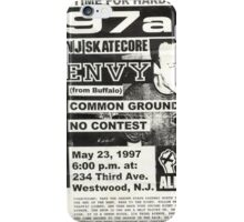 97a no contest show flyer iPhone Case/Skin